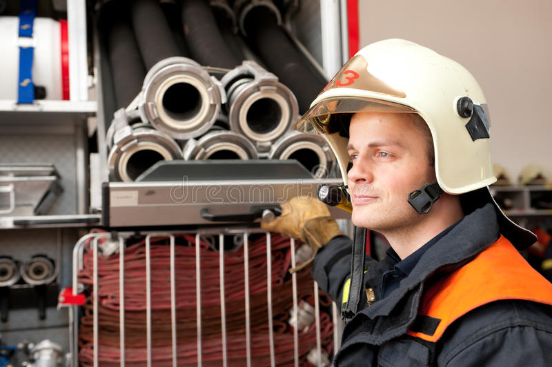 Download Firefighter stock photo. Image of protection, person - 25116508