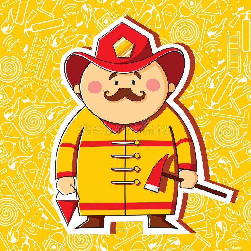 firefighter ilustração royalty free