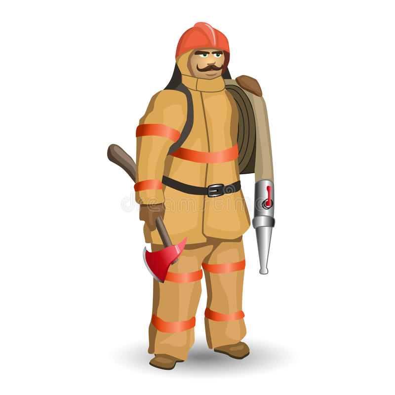 firefighter ilustração do vetor