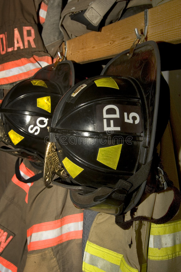 Firefighter clothing royalty free stock photo