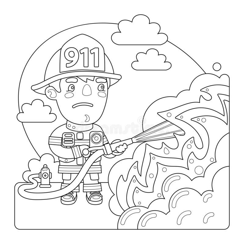 Firefighter Coloring Stock Illustrations – 136 Firefighter Coloring Stock  Illustrations, Vectors & Clipart - Dreamstime