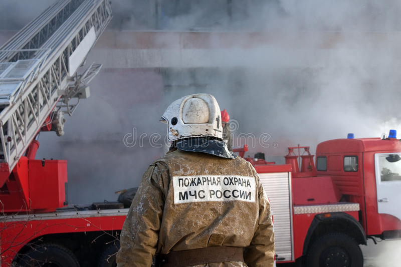Download Firefighter on fire stock photo. Image of firefighter - 13003110
