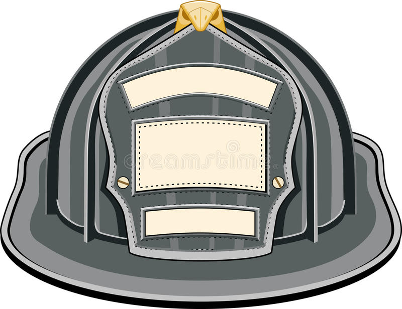Firefighter Helmet Black royalty free illustration