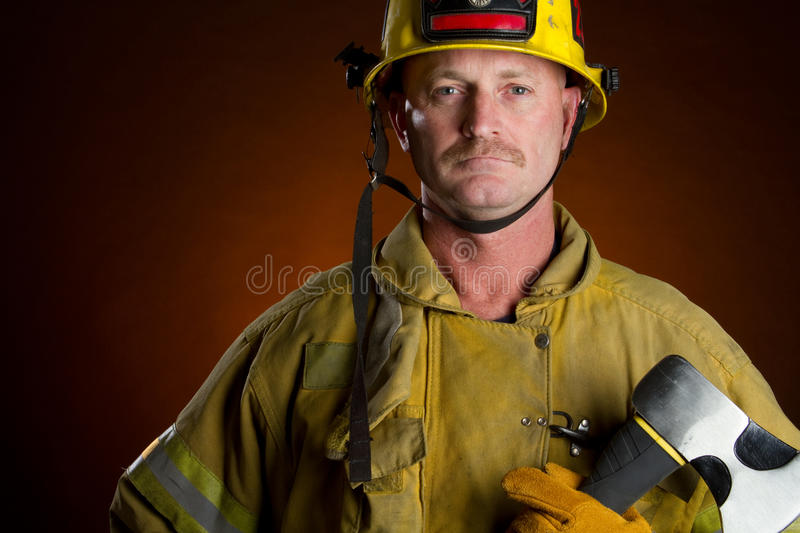 Download Firefighter Man stock photo. Image of jacket, middle - 20756444
