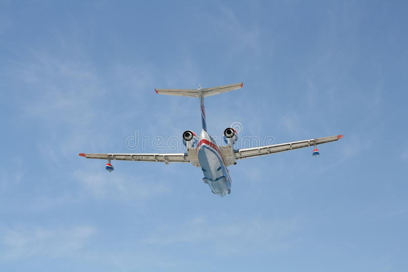 Download Firefighter Seaplane BE-200ES In Flight Editorial Stock Image - Image: 26554729