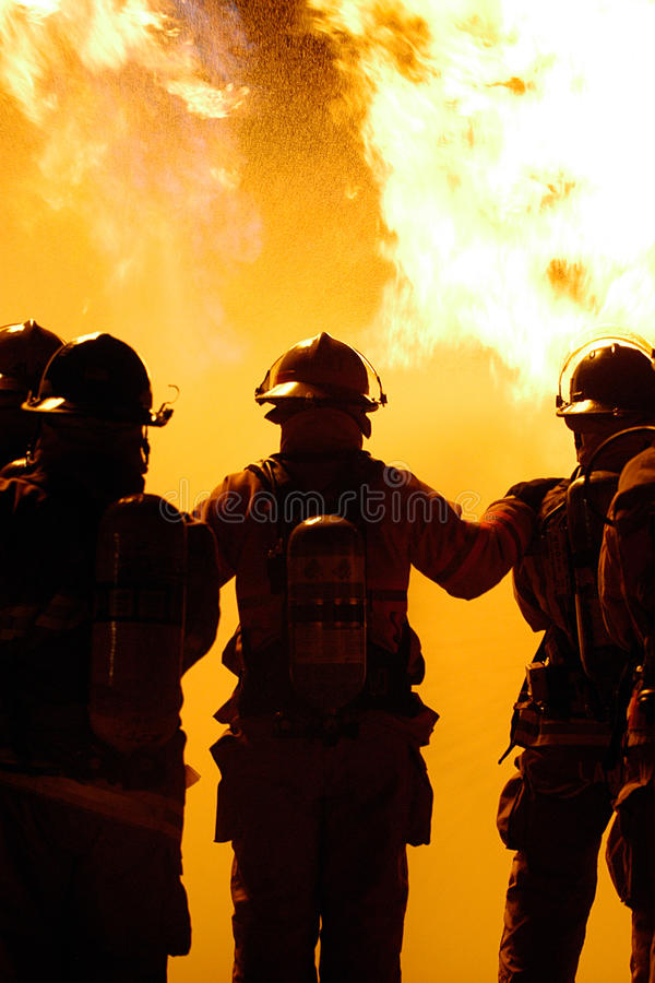 Download Firefighter teamwork stock image. Image of fires, danger - 24299733