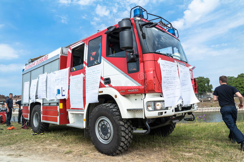 Download Firefighter Training In Duisburg Harbour Editorial Image - Image: 83703690