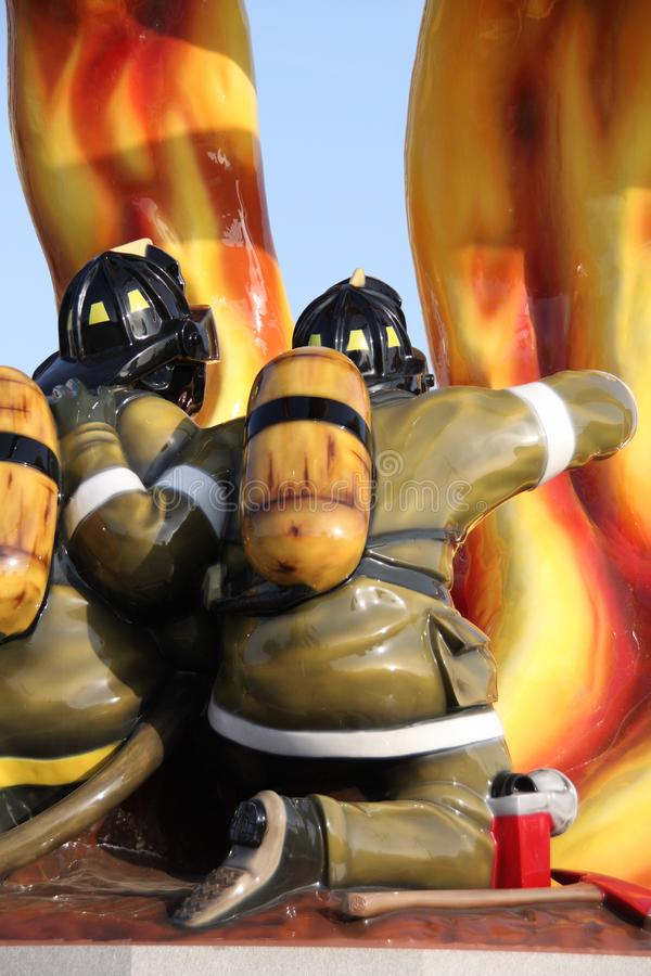 Download Firefighter Tribute stock image. Image of water, inferno - 5044075