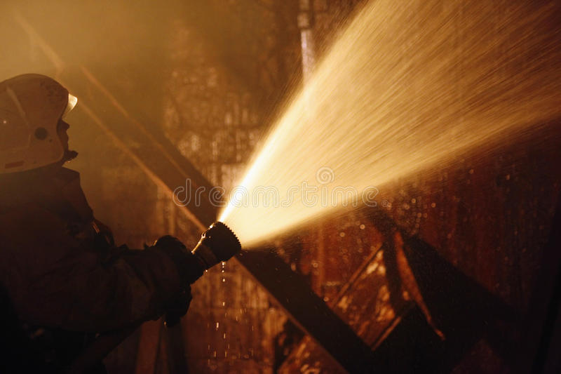 Firefighter work royalty free stock image