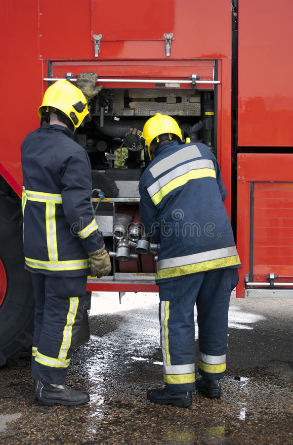 Firefighters stock images