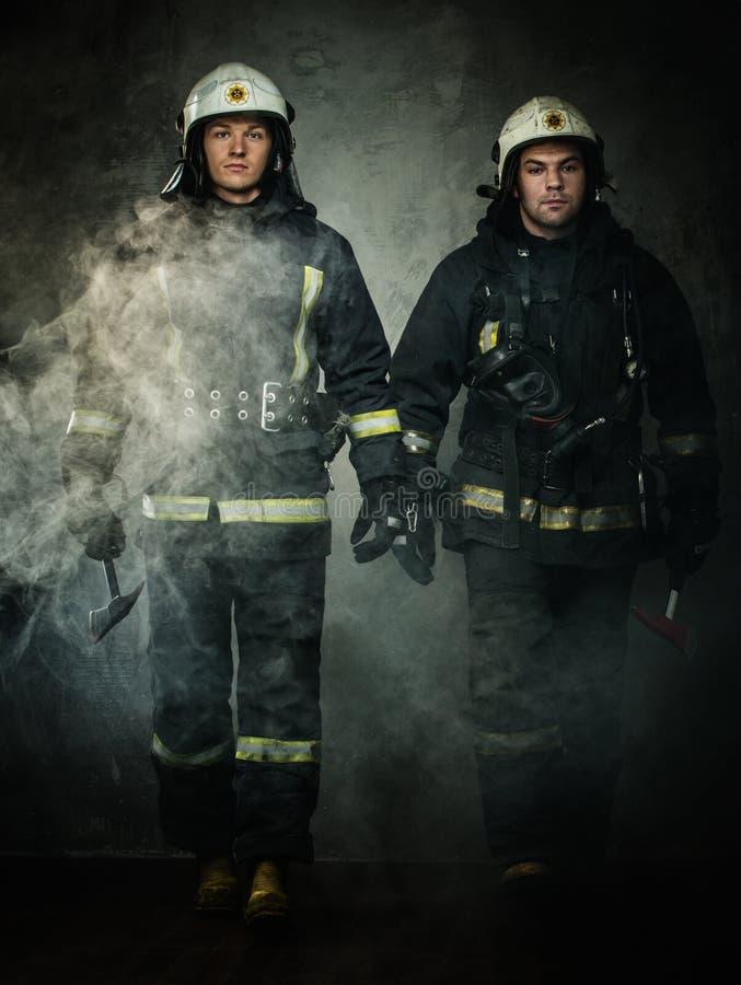 firefighters fotografia de stock