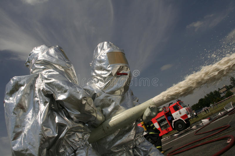 Firefighters In Action Editorial Image