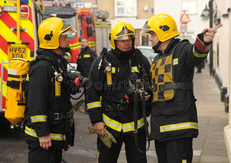 Firefighters briefing royalty free stock image