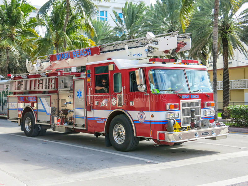 Firefighters in Miami royalty free stock image