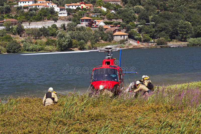 Download Firefighting Helicopter - Crew Stock Photo - Image: 20831868