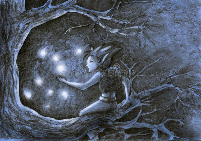 Download Firefly dance stock illustration. Illustration of dance - 10977768