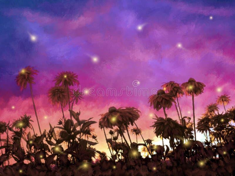 Firefly Dance vector illustration