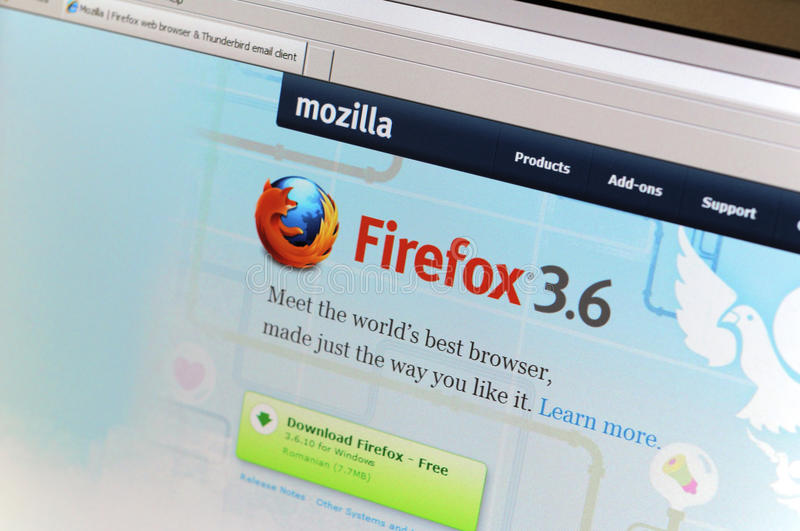 Download Firefox.com Main Internet Page Editorial Stock Photo - Image: 16960923