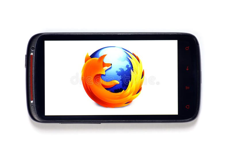 Firefox smartphone stockbilder