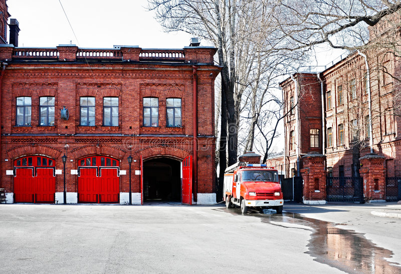 Firehouse immagine stock