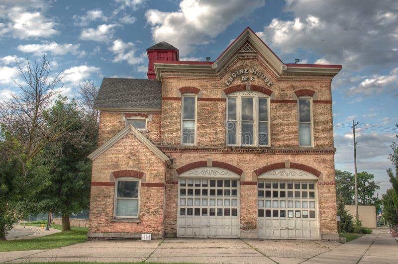 Firehouse i Grand Rapids Michigan royaltyfri bild