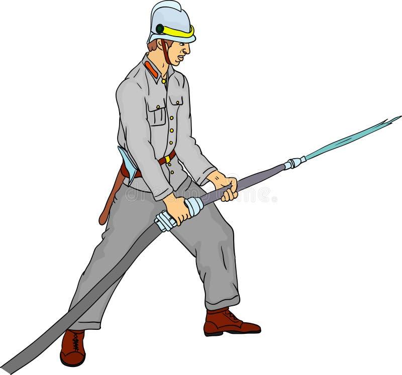 Download Fireman stock vector. Illustration of fighter, historic - 11134303