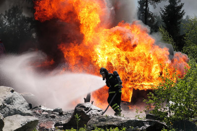 Download Fireman stock photo. Image of light, glow, destroy, loss - 25908260