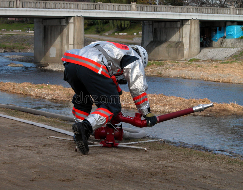 Download Fireman stock photo. Image of water, hose, emergency, training - 41004