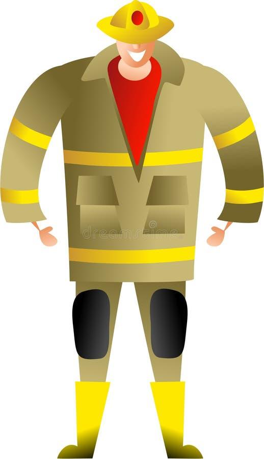 Fireman royalty free illustration