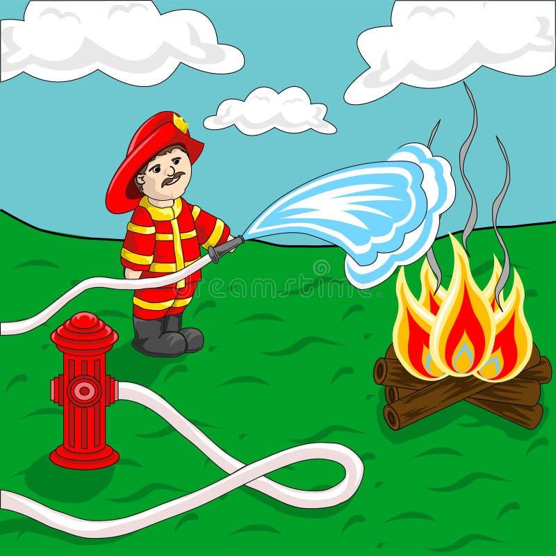 fireman ilustração royalty free