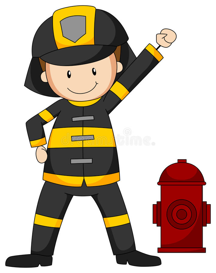 fireman ilustração stock