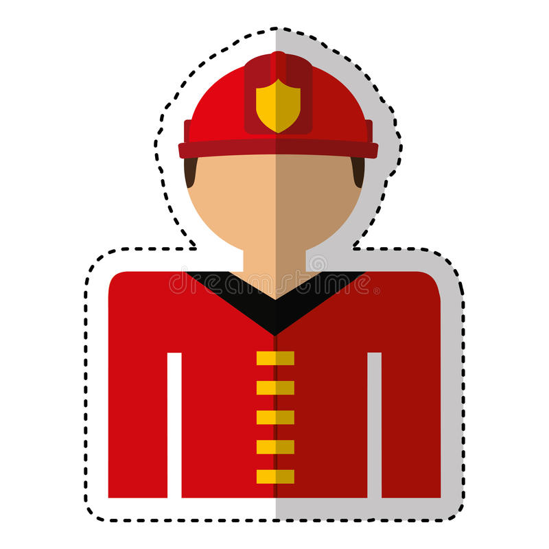 fireman avatar character icon stock illustration