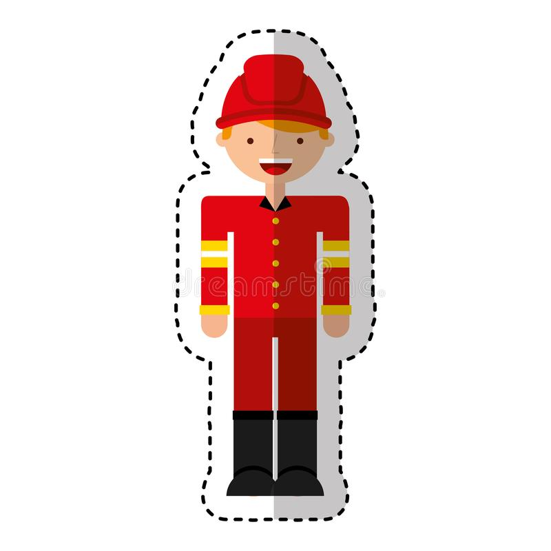 Fireman avatar character icon vector illustration