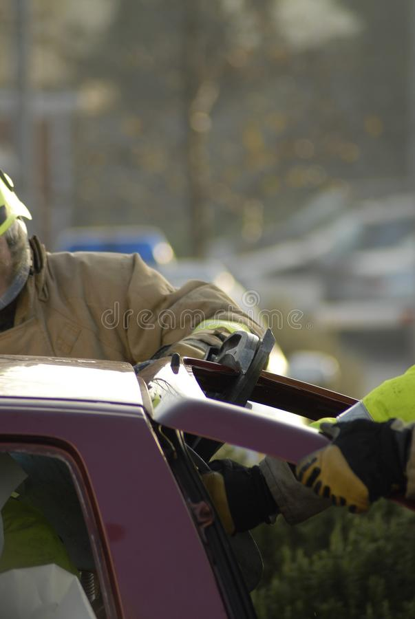 Download Fireman cutting boot stock image. Image of freeing, save - 42503445