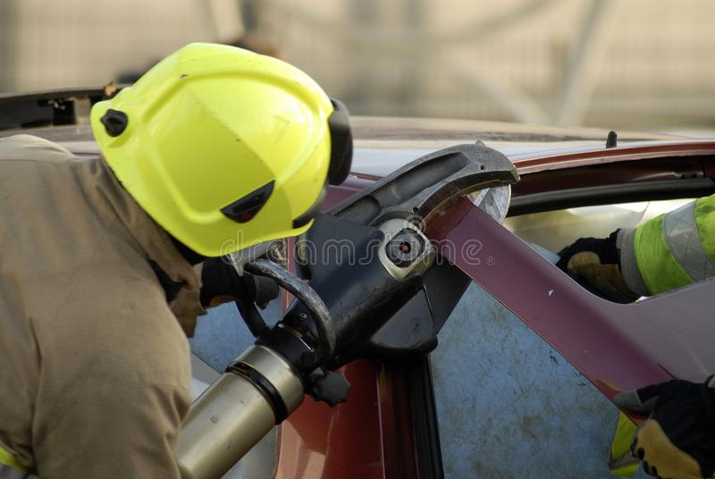 Download Fireman cutting boot stock photo. Image of implement - 42503462