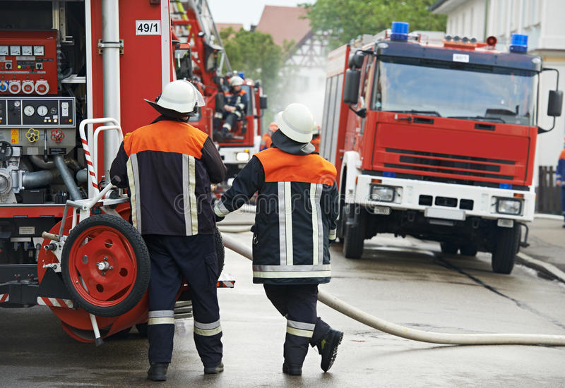 Download Fireman on duty stock image. Image of firefighter, portrait - 33232769