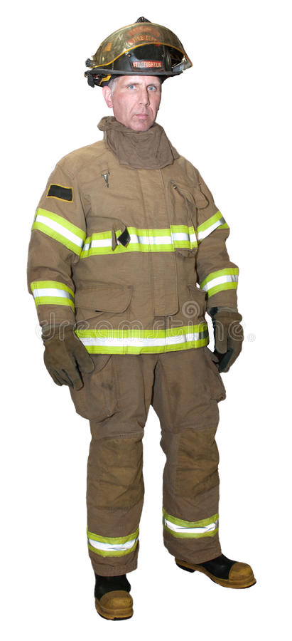 Fireman Emergency Rescue First Responder Isolated royalty free stock image