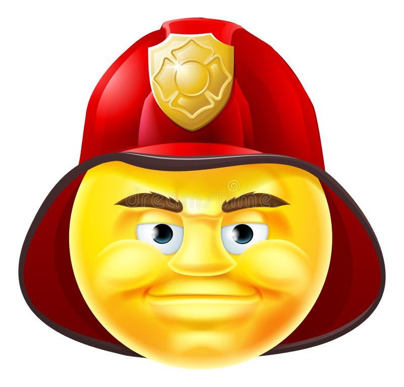 Fireman Emoji Emoticon vector illustration