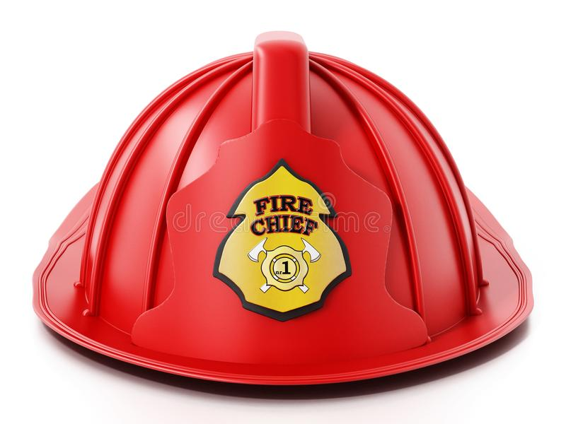 Fireman hat isolated on white background. 3D illustration vector illustration
