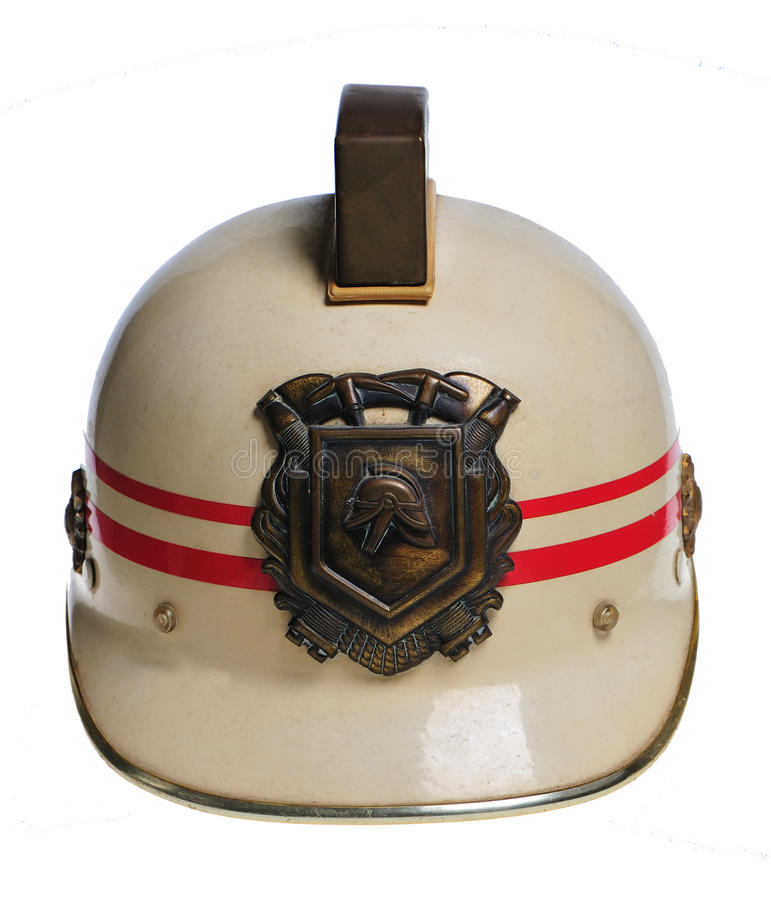 Fireman helmet. Used in the Netherlands royalty free stock image