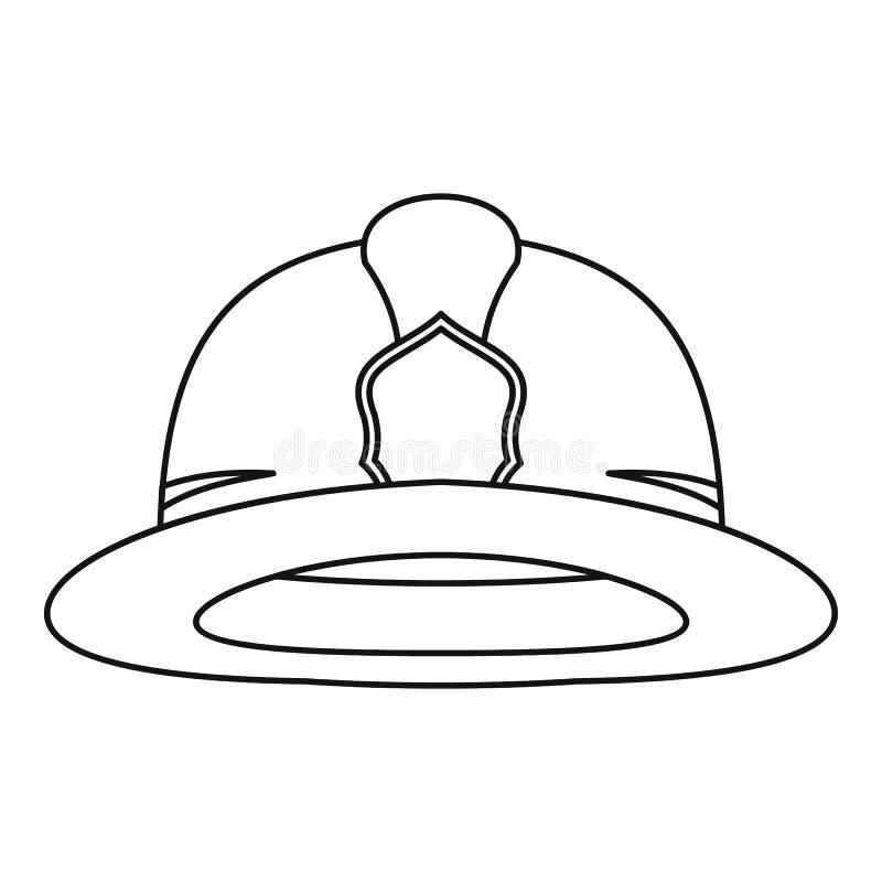 fireman helmet icon outline style stock vector