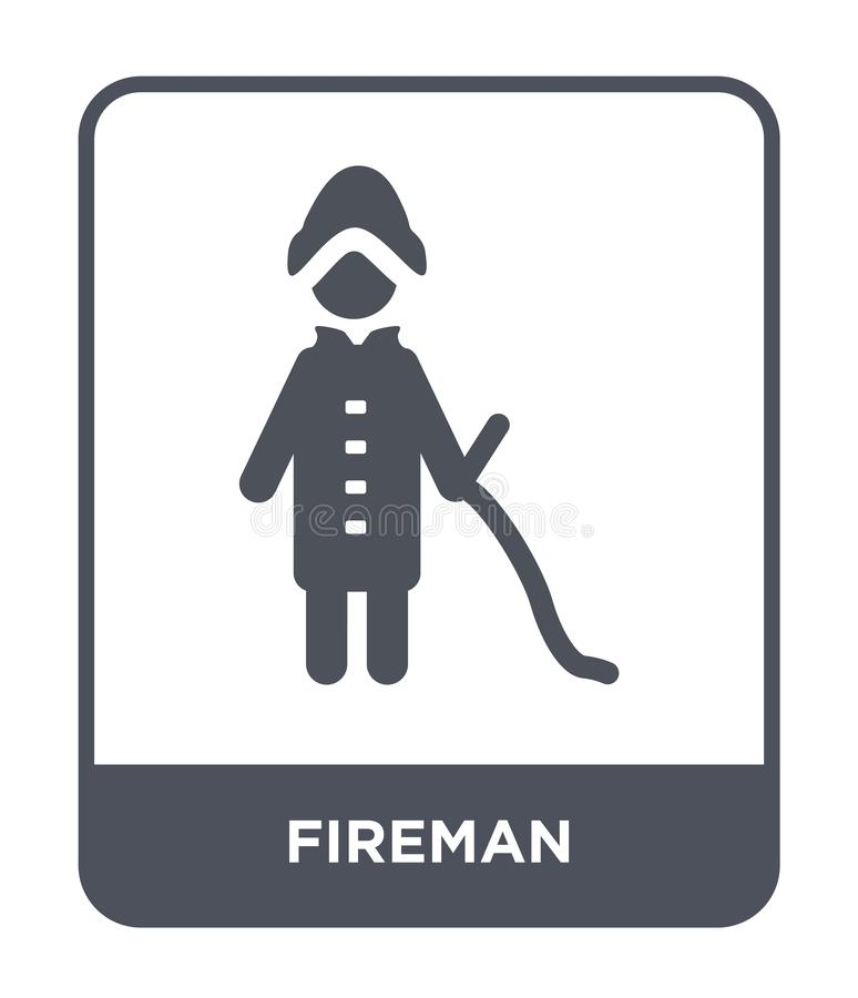 fireman icon in trendy design style. fireman icon isolated on white background. fireman vector icon simple and modern flat symbol royalty free illustration