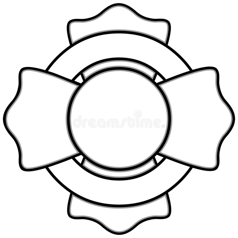 Fireman Insignia Illustration stock illustration
