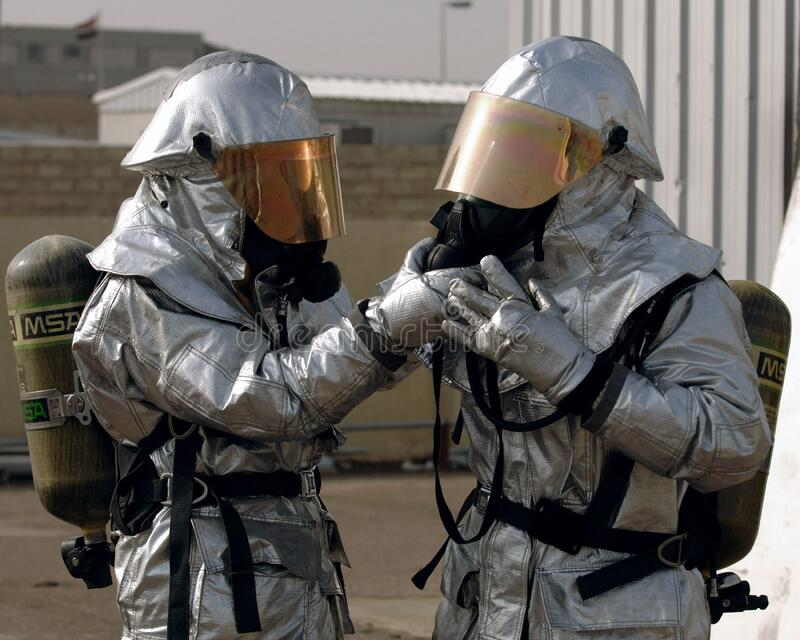 Fireman In Protective Suits Free Public Domain Cc0 Image
