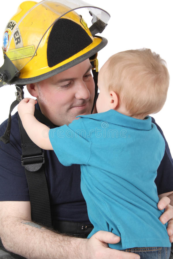 Download Fireman Son stock image. Image of person, small, isolated - 18502243