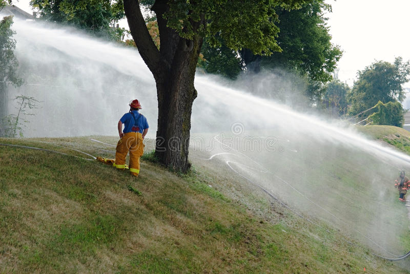 Fireman Watches On Editorial Stock Photo