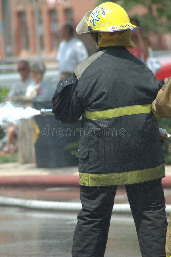 Download Firemen stock image. Image of safety, hose, saving, fire - 163435