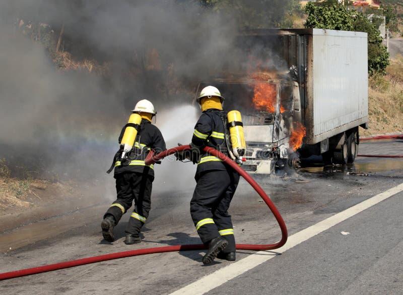 firemen fotografia stock