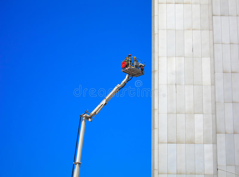 Download Firemen Rescue Mission stock image. Image of building - 25159719