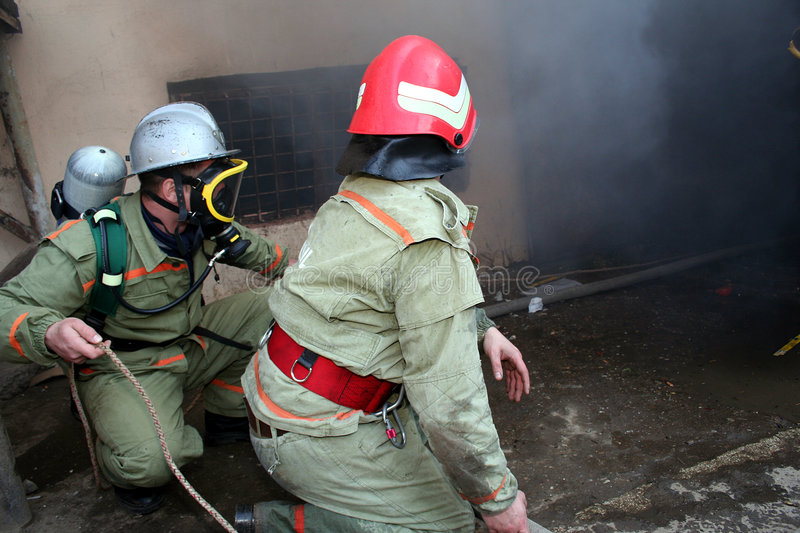 Download Firemen at work stock image. Image of firemen, accident - 2171819